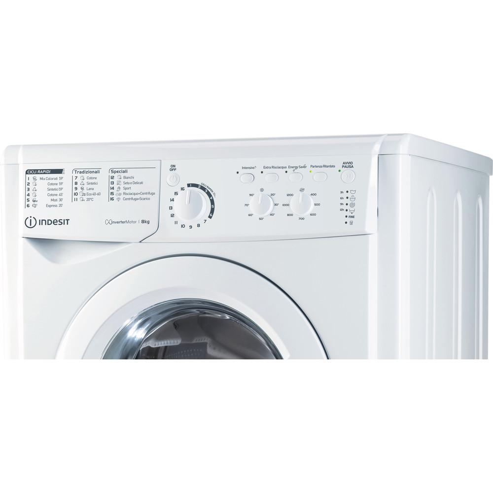 Indesit Lavabiancheria A libera installazione EWC 81283 W IT N Bianco Carica frontale D Control panel