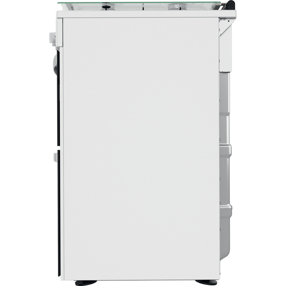 Indesit Double Cooker ID67G0MCW/UK White A+ Back / Lateral
