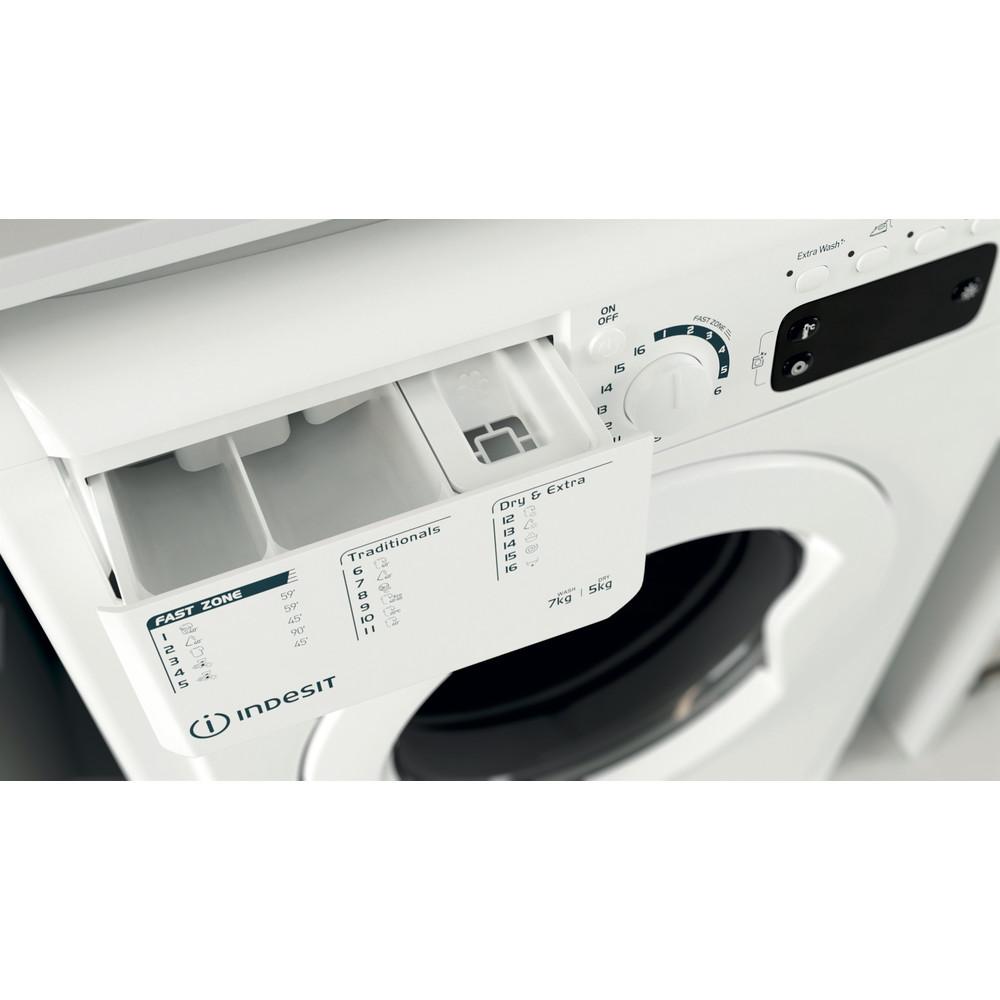 Indesit Tvättmaskin med torktumlare Fristående EWDE 751451 W EU N White Front loader Drawer