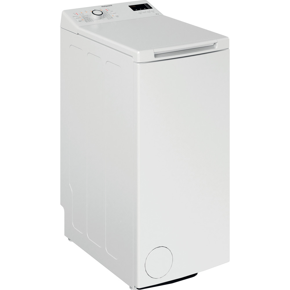Hotpoint Washing machine Free-standing WMTF 722U UK N White Top loader E Perspective