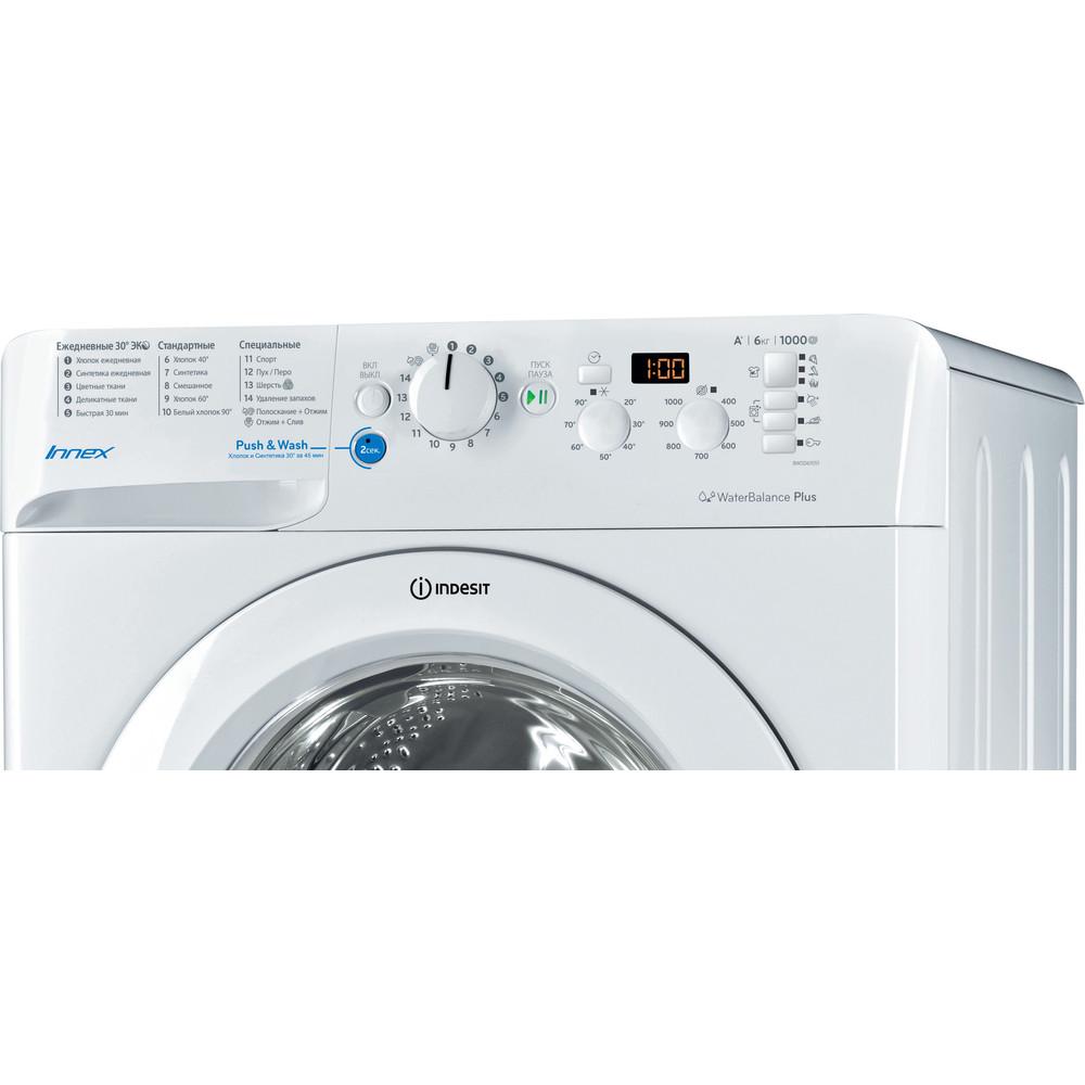 Indesit Стиральная машина Отдельностоящий BWSD 61051 1 Белый Фронтальная загрузка A Control_Panel