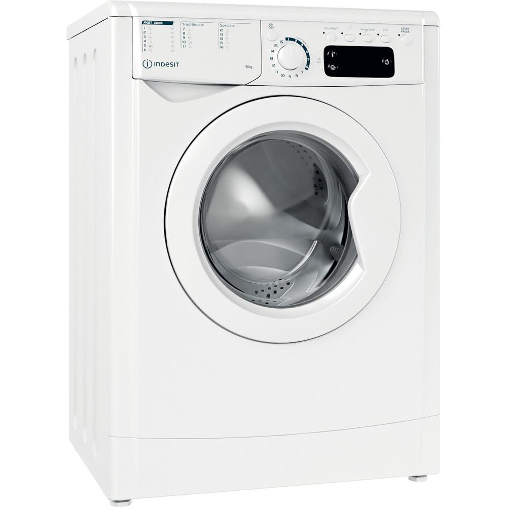 Indesit Waschmaschine Freistehend EWE 61251E W EU N Weiß Frontlader F Perspective
