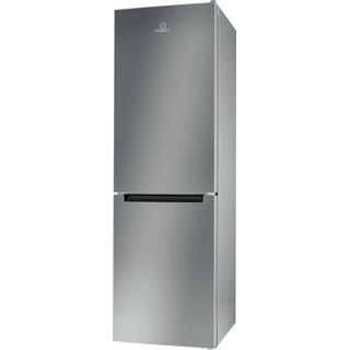 Indesit Réfrigérateur combiné Pose-libre LI8 S2E S Argent 2 portes Perspective