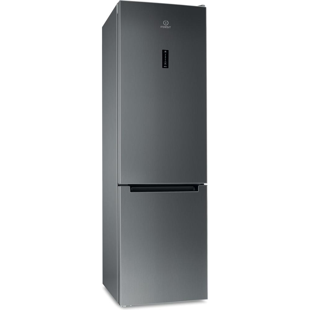 Indesit Холодильник с морозильной камерой Отдельностоящий ITF 120 X Inox 2 doors Perspective
