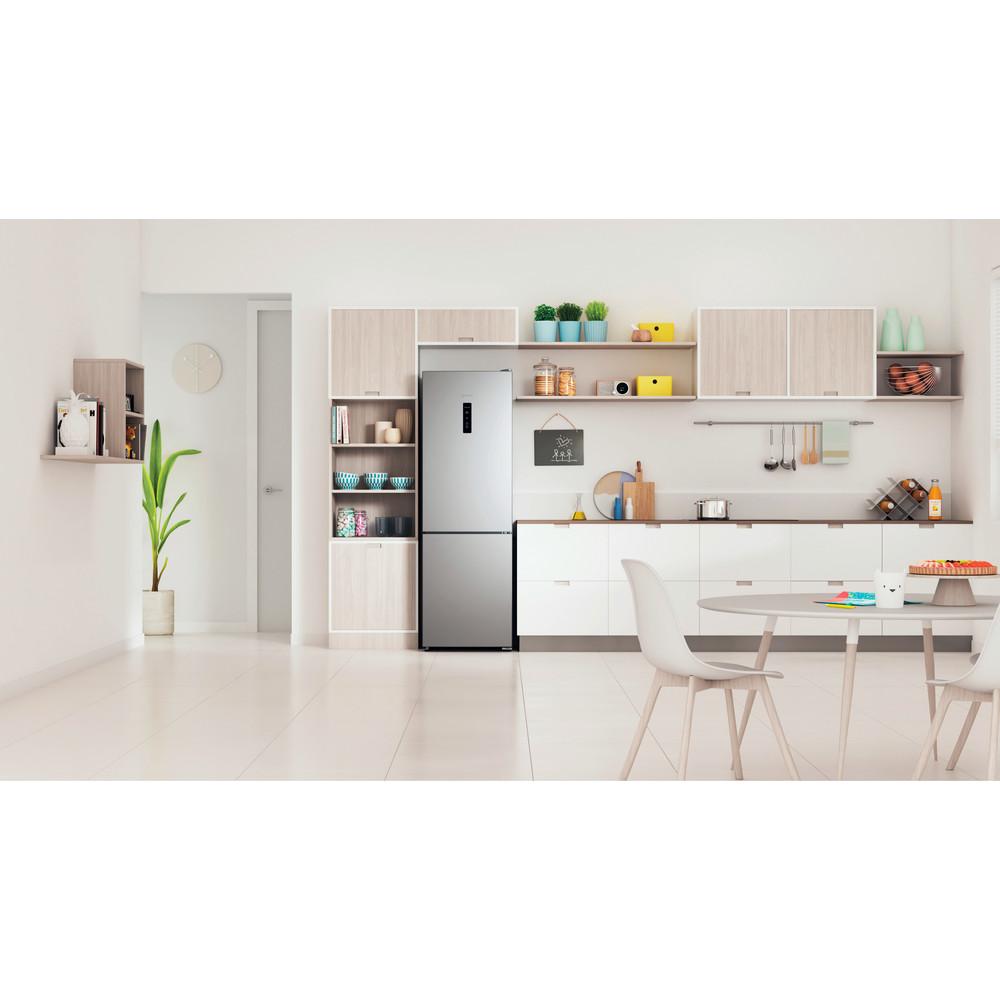 Indesit Холодильник с морозильной камерой Отдельностоящий ITR 5180 X Inox 2 doors Lifestyle frontal