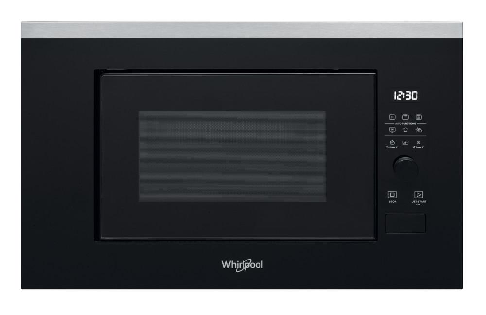 Whirlpool Mikroaaltouuni Kalusteisiin sijoitettava WMF200G Inox Elektroninen 20 Mikroaaltoyhdistelmäuuni 800 Frontal