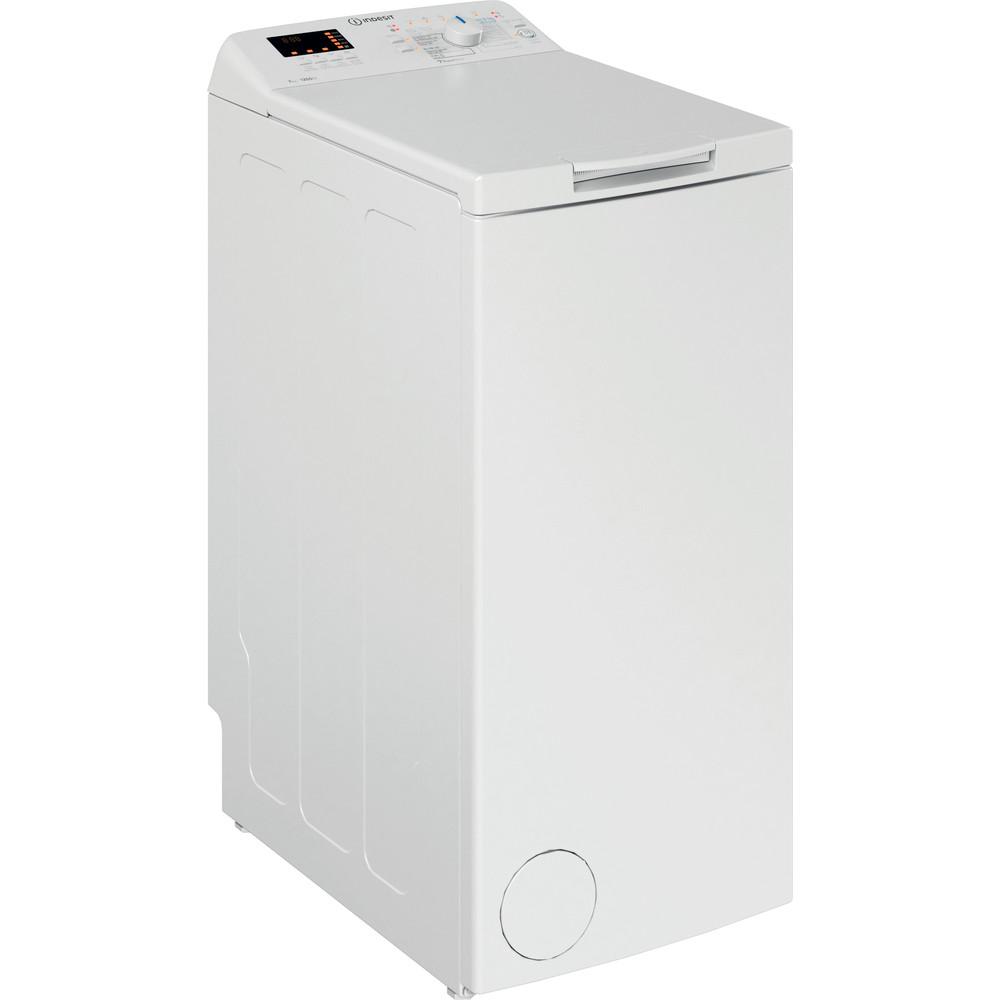Indesit Waschmaschine Freistehend BTW S72200 CH/N Weiss Toplader E Perspective