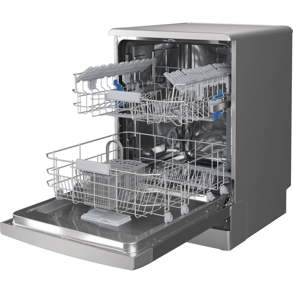 Indesit Посудомоечная машина Отдельностоящий DFC 2C24 A X Отдельностоящий A Perspective open
