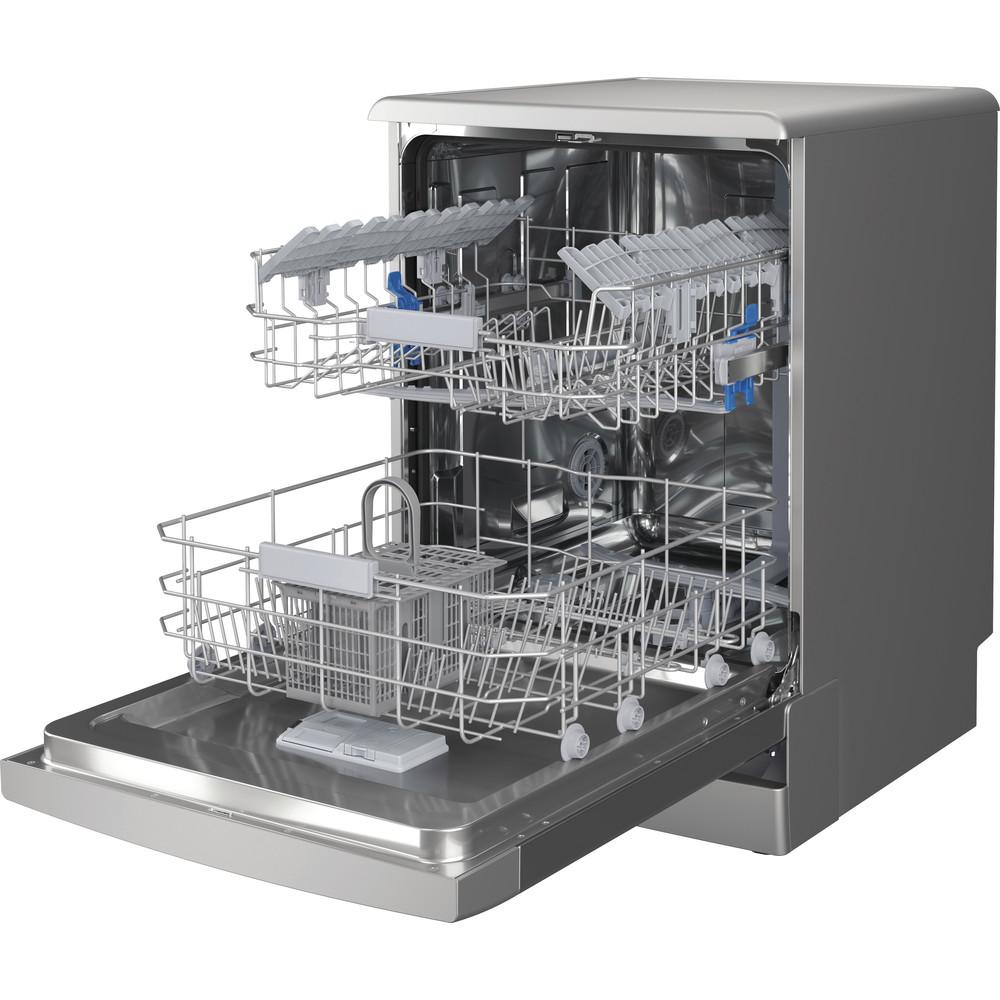 Indesit Lave-vaisselle Pose-libre DFC 2C24 A X Pose-libre E Perspective open