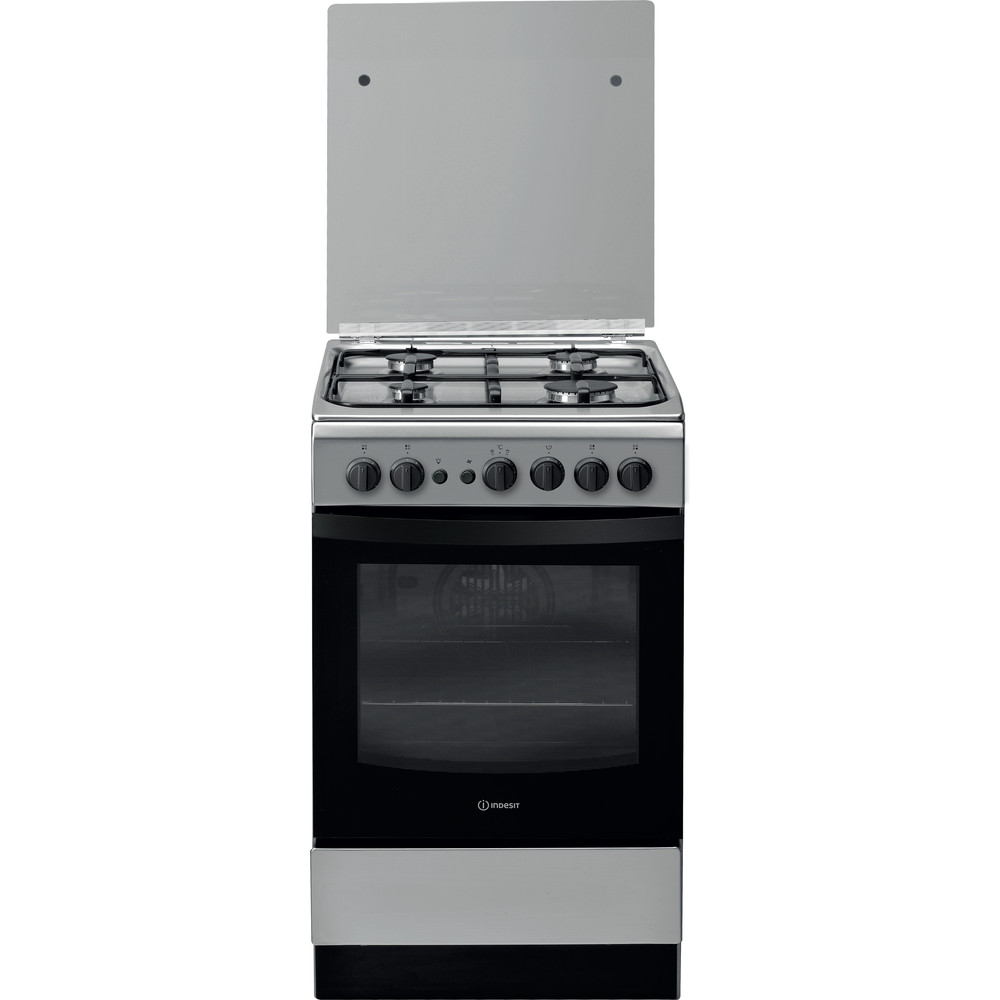 Indesit Cocina IS5G1PMX/E Inox Gas Frontal