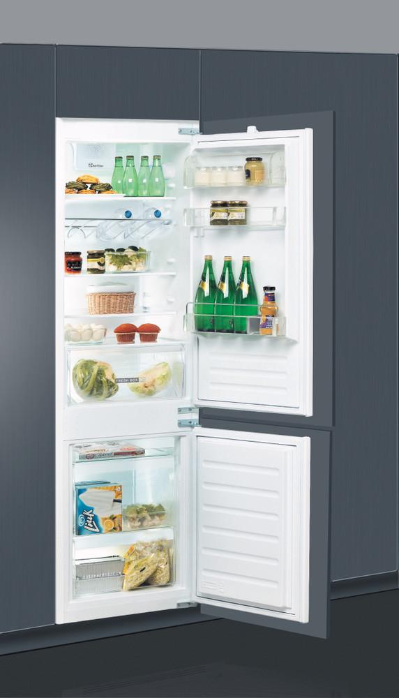 Whirlpool Fridge/freezer combination Built-in ART 6510/A+ SF Inox 2 doors Perspective open
