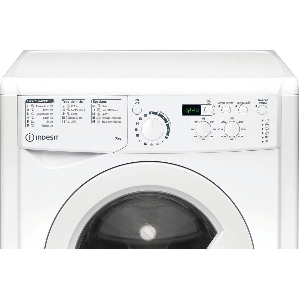 Indesit Lave-linge Pose-libre EWD71452WFR N Blanc Lave-linge frontal E Control panel