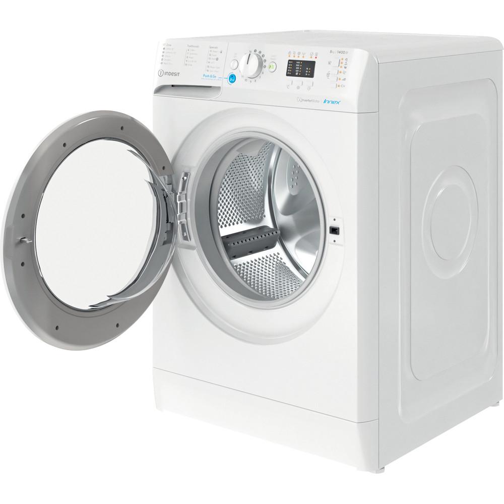 Indesit Washing machine Free-standing BWA 81484X W UK N White Front loader C Perspective open