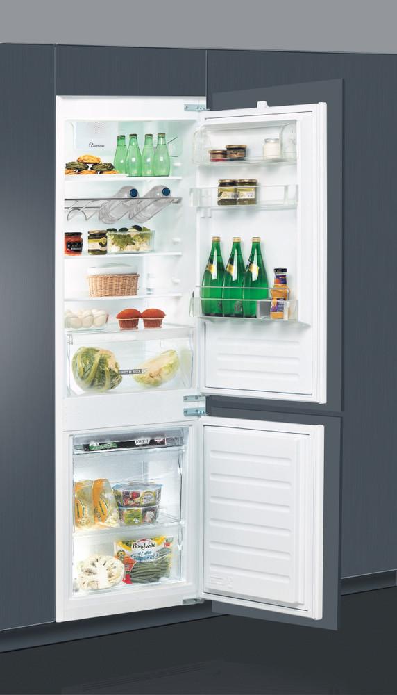 Whirlpool Jääkaappipakastin Kalusteisiin sijoitettava ART 66122 Valkoinen 2 doors Perspective open