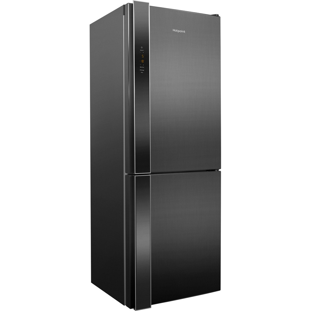 Hotpoint Fridge Freezer Free-standing XUL8 T2Z XOV.1 Inox 2 doors Perspective