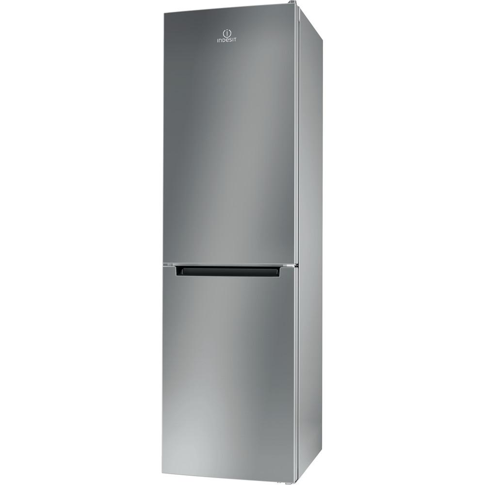 Indesit Combinación de frigorífico / congelador Libre instalación LR9 S2Q F X B Óptica Inox 2 doors Perspective