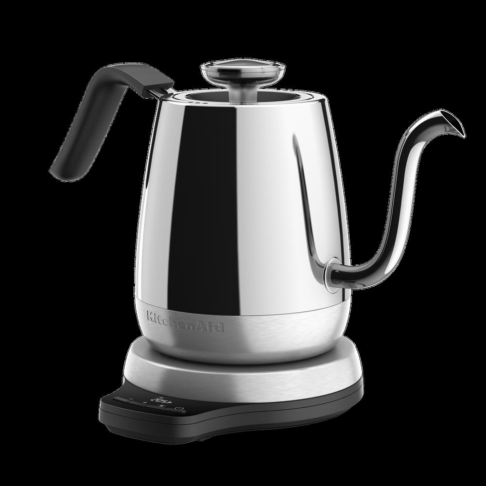 Mince Bec Bouilloire Thermostat /à Col de Cygne Bouilloire Induction en Acier Inoxydable pour Verser Sur Coffee Bouilloire Gaz 40Oz,Argent