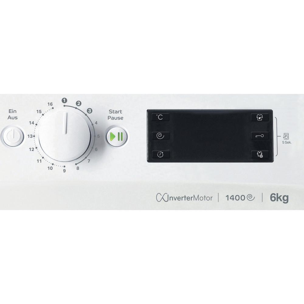Indesit Waschmaschine Freistehend MTWE 61483E W DE Weiß Frontlader D Control panel
