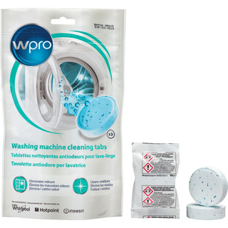 Tavolette igienizzanti antiodore per lavatrice • 3 tabs x 40 g