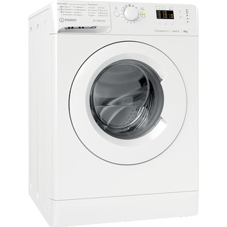 Indsit Maşină de spălat rufe Independent MTWA 81283 W EE Alb Încărcare frontală D Perspective