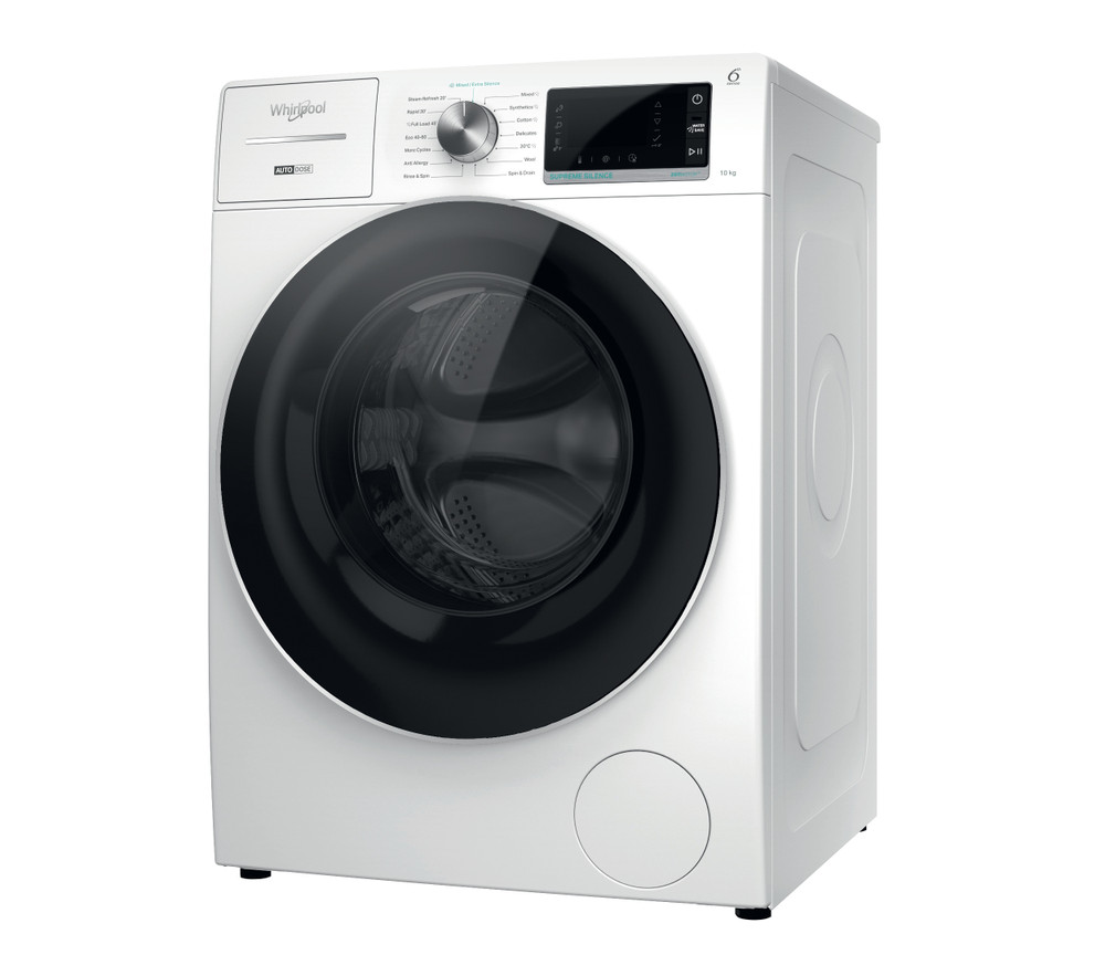 Whirlpool Washing machine Free-standing W8 W046WR UK White Front loader A Perspective