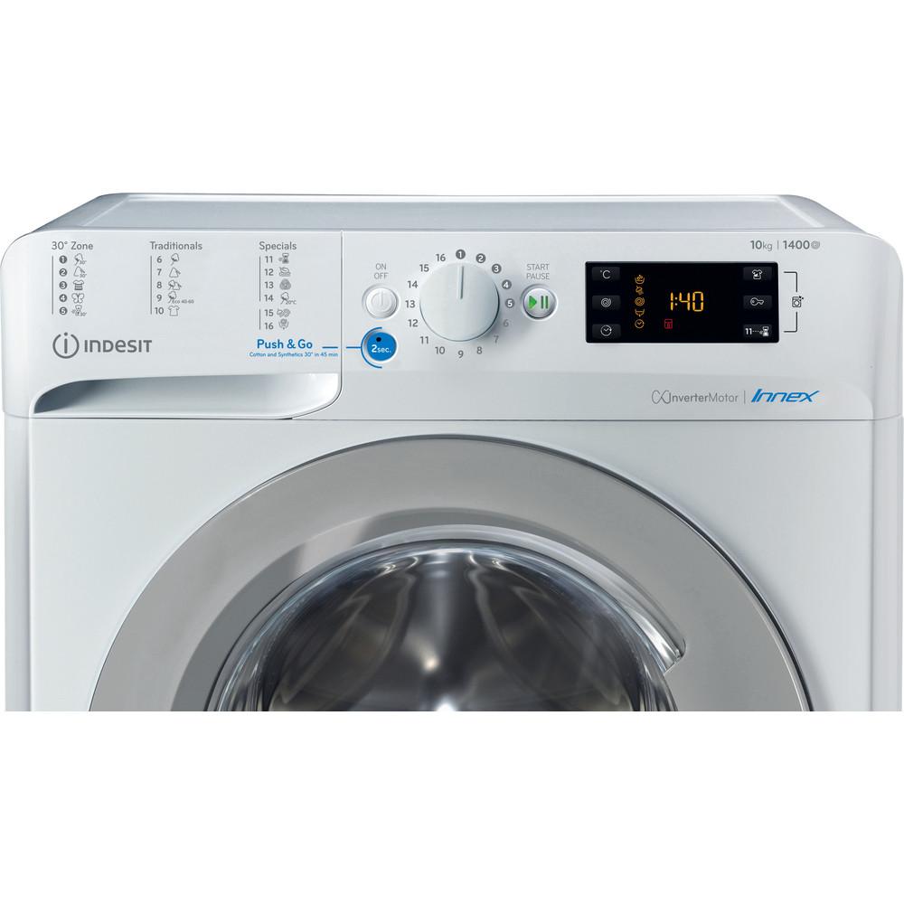 Indesit Lave-linge Pose-libre BWE 101483X WS EU N Blanc Lave-linge frontal D Control panel