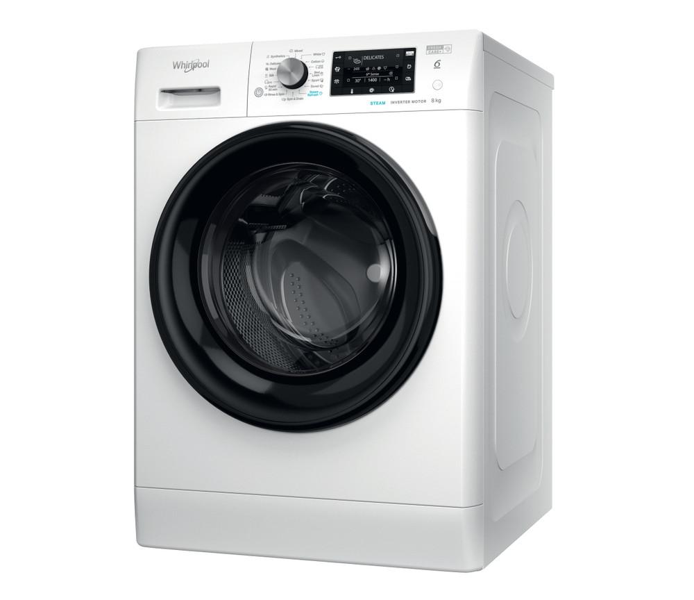 Whirlpool Maşină de spălat rufe De sine statator FFD 8638 BV EE Alb Încărcare frontală D Perspective