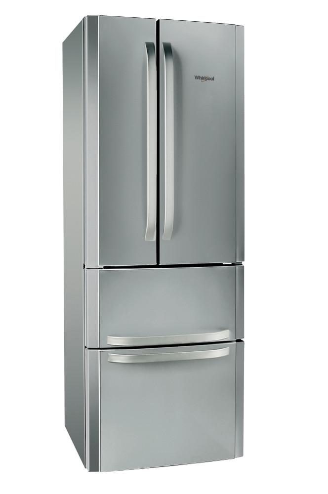 Whirlpool Hűtő/fagyasztó kombináció Szabadonálló W4D7 XC2 Inox 3 doors Perspective