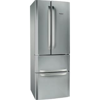 Whirlpool Kombinētais ledusskapis/saldētava Brīvi stāvošs W4D7 XC2 Nerūsējošā tērauda 3 doors Perspective