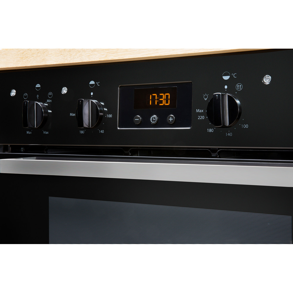 Indesit Double oven IDU 6340 BL Black B Lifestyle control panel