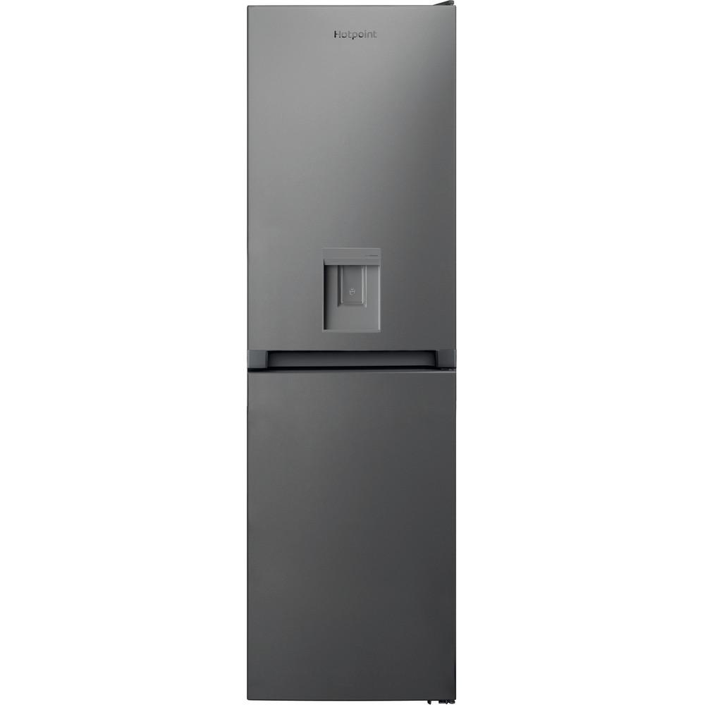 Hotpoint Fridge-Freezer Combination Free-standing HBNF 55181 S AQUA UK 1 Silver 2 doors Frontal