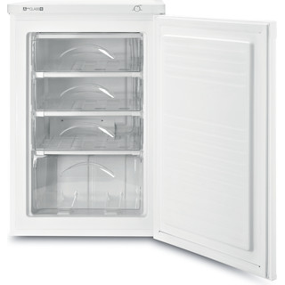 Indesit Congélateur Pose-libre TZAAA 10.1 Blanc Perspective open