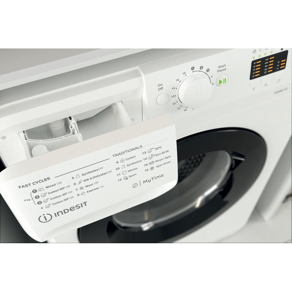Indsit Maşină de spălat rufe Independent MTWSA 61252 WK EE Alb Încărcare frontală A +++ Drawer