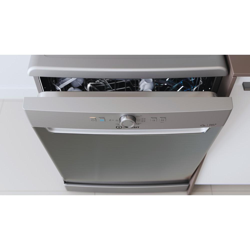 Indesit Dishwasher Free-standing DFE 1B19 X UK Free-standing F Lifestyle control panel