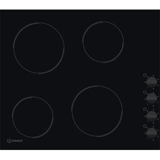Indesit Encimera RI 860 C Negro Radiant vitroceramic Frontal