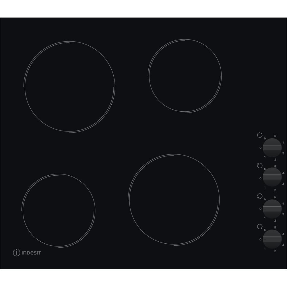 Indesit HOB RI 860 C Black Radiant vitroceramic Frontal