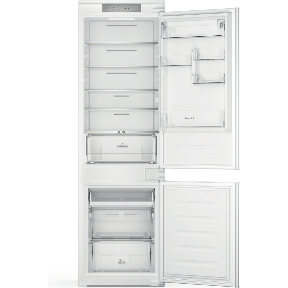 Hotpoint Fridge Freezer Built-in HTC18 T311 UK White 2 doors Frontal open