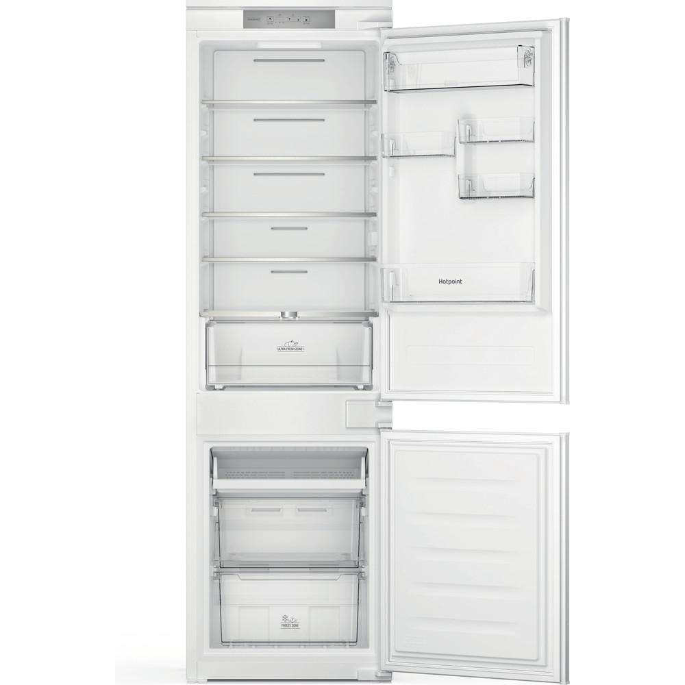 Hotpoint Fridge-Freezer Combination Built-in HTC18 T311 UK White 2 doors Frontal open