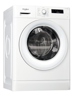 Whirlpool freestanding front loading washing machine: 7kg - FWFP710521WH GCC