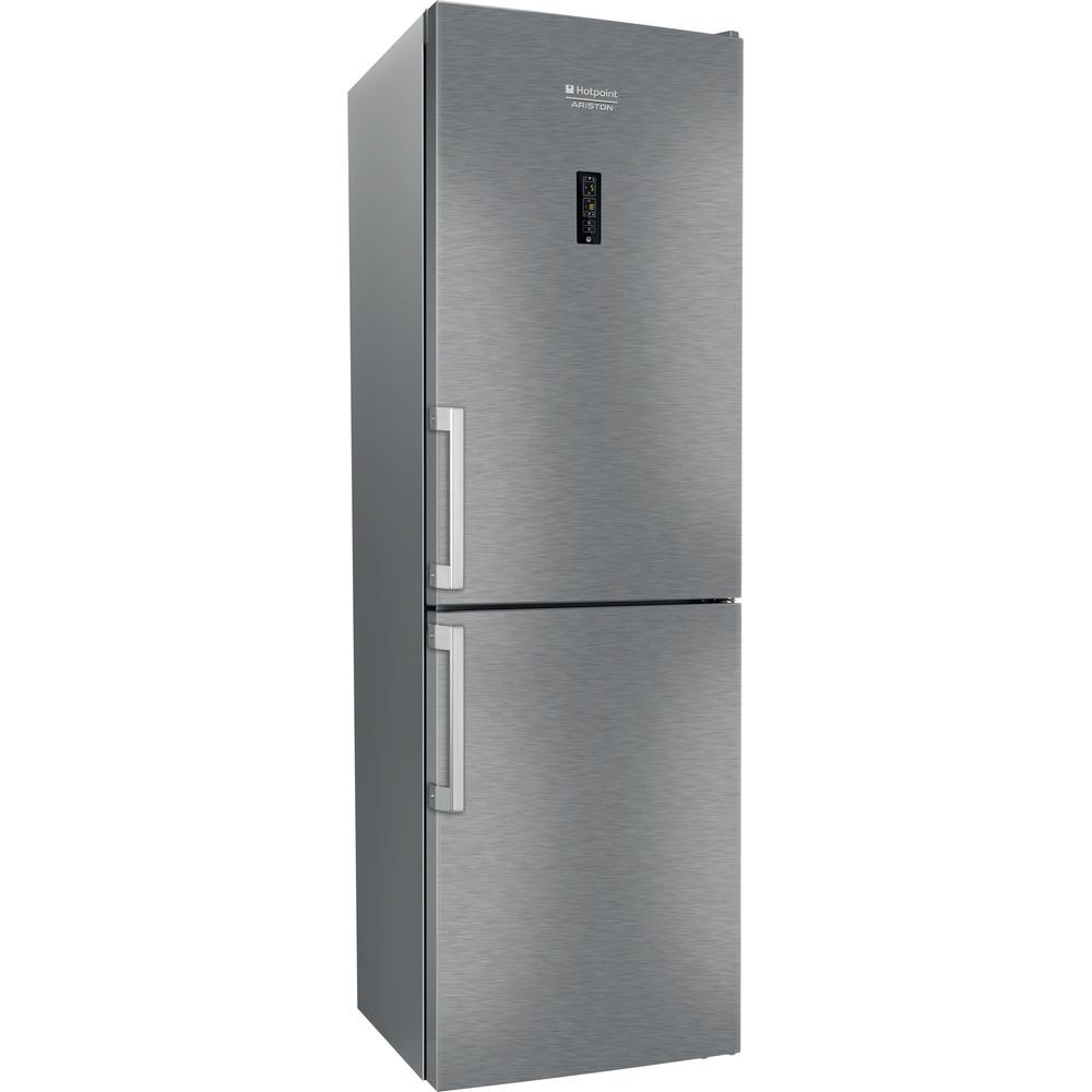Hotpoint_Ariston Комбинированные холодильники Отдельностоящий HFP 6200 X Нержавеющая сталь 2 doors Perspective