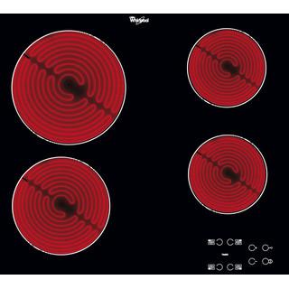 Whirlpool Ploča za kuhanje AKT 8090/NE Crna Radiant vitroceramic Frontal