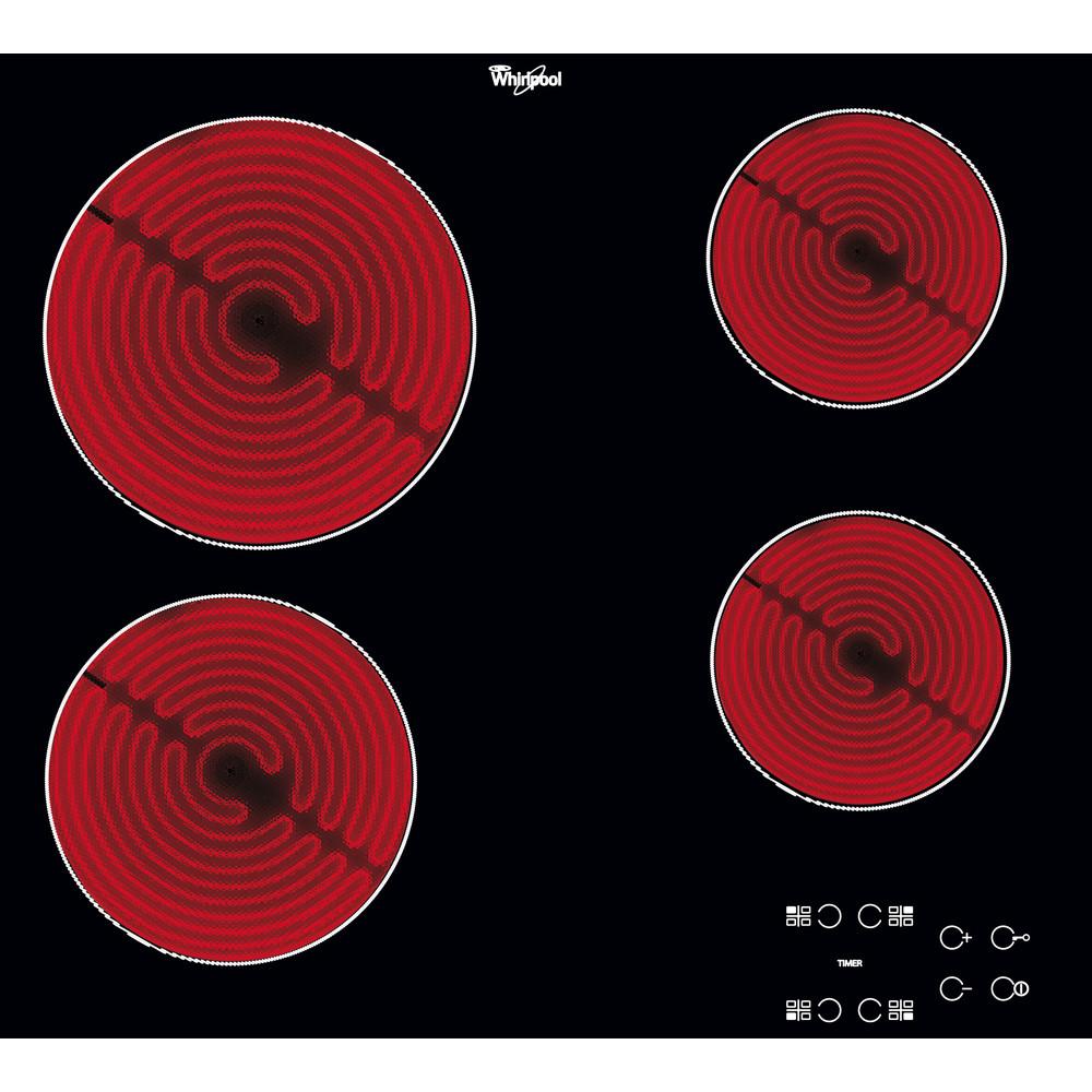 Placa vitrocerámica Whirlpool AKT 8090/NE con 4 zonas de cocción