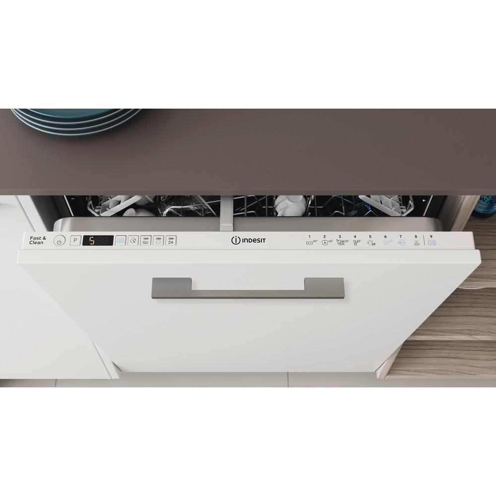 Indesit Geschirrspüler Einbau DIO 3C24 AC E Vollintegrierbar E Lifestyle control panel