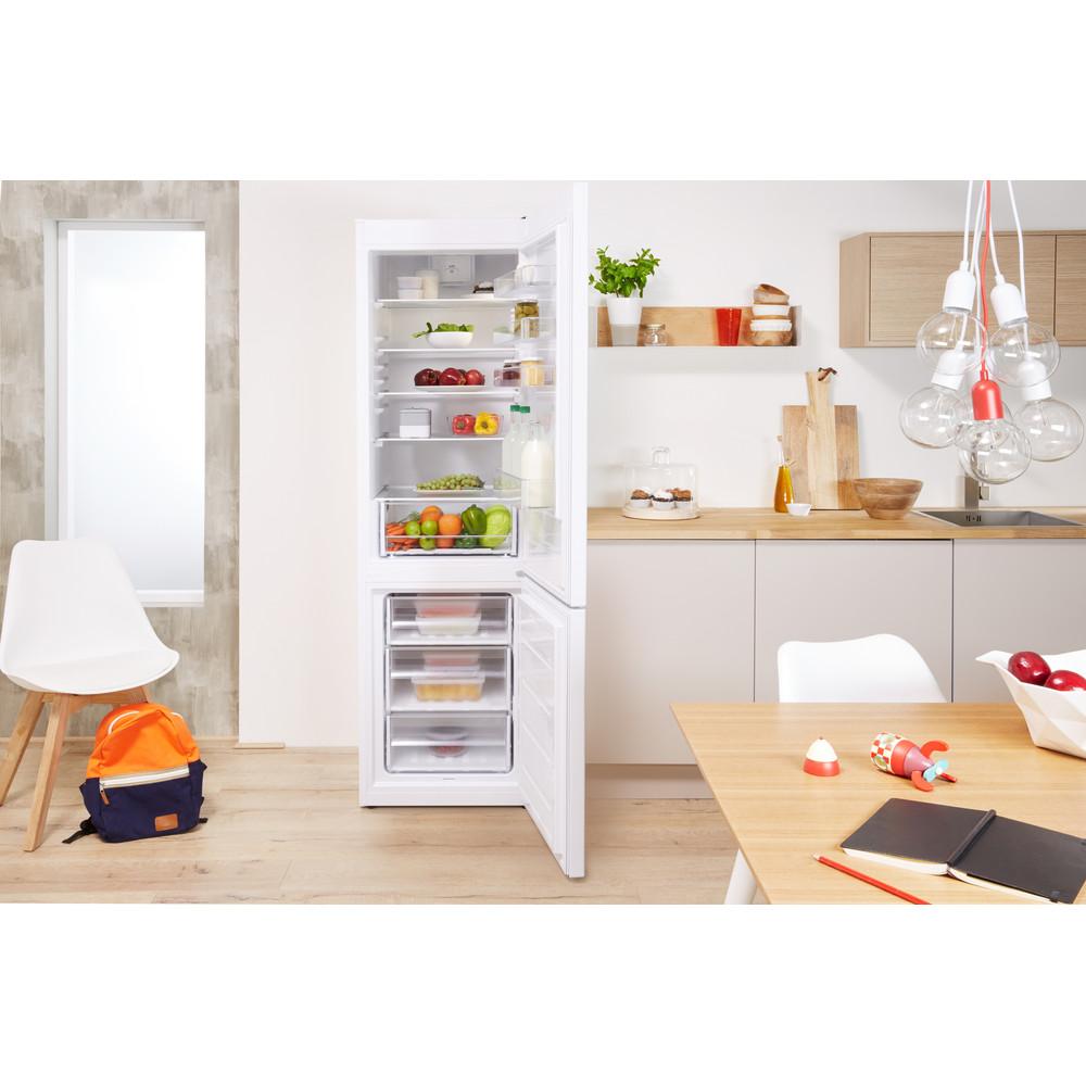 Indesit Køleskab/fryser kombination Fritstående LR9 S1Q F W Hvid 2 doors Lifestyle frontal open