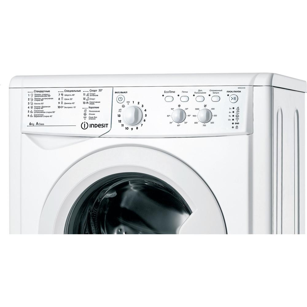 Indesit Стиральная машина Отдельностоящий IWSC 6105 (CIS) Белый Фронтальная загрузка A Control panel