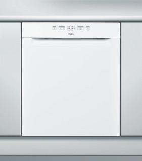 Whirlpool-opvaskemaskine: hvid farve, fuld størrelse - WRUE 2B19