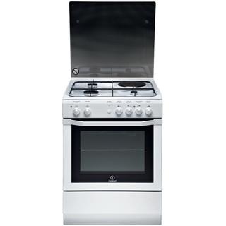 Indesit Κουζίνα I6M6CAG(W)/FR Λευκό Μεικτή Frontal