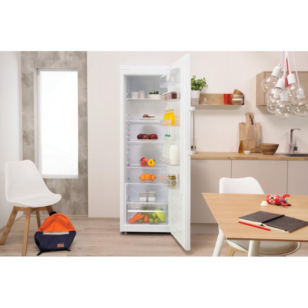 Indesit Réfrigérateur Pose-libre SI8 1Q WD Blanc Lifestyle frontal open