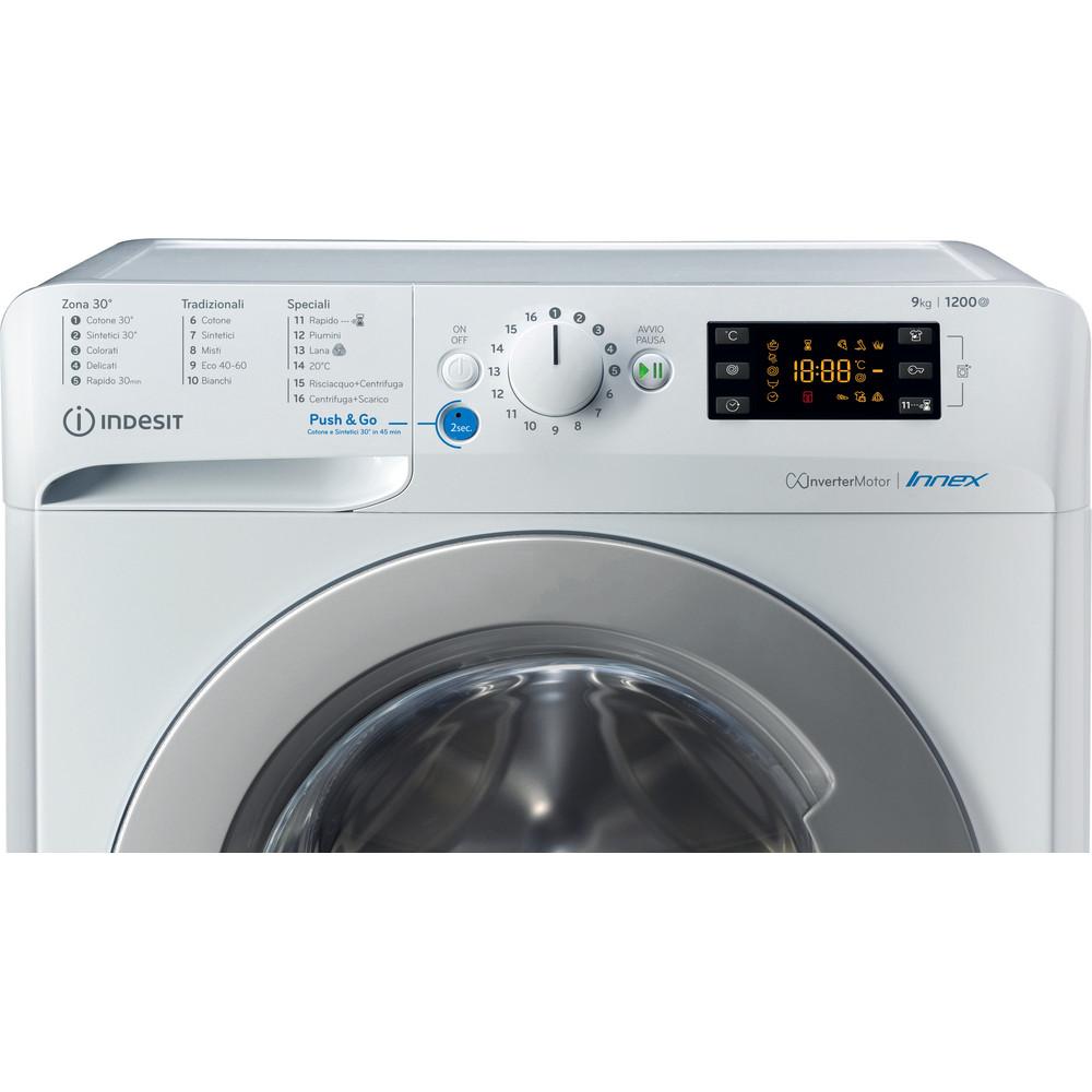 Indesit Lavabiancheria A libera installazione BWE 91285X WS IT Bianco Carica frontale B Control panel