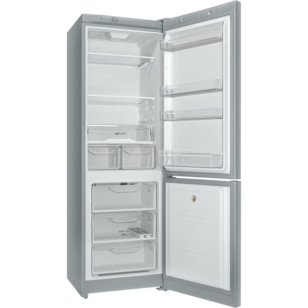 Indesit Холодильник с морозильной камерой Отдельностоящий DS 4180 SB Серебристый 2 doors Perspective open